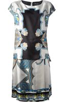 Etro Abstract Print Dress - Lyst