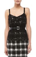 Kors By Michael Kors Twotone Lace Sleeveless Bustier - Lyst
