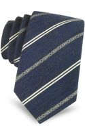 Moschino Narrow Signature Striped Silk Tie - Lyst