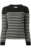 Saint Laurent Striped Sweater - Lyst