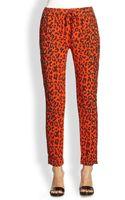 A.L.C. Thompson Leopardprint Silk Pants - Lyst