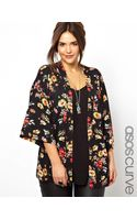 Asos Curve Exclusive Kimono in New Floral Print - Lyst