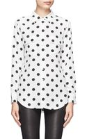 Equipment Polka Dots Silk Blouse - Lyst