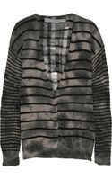 Raquel Allegra Striped Cashmere Cardigan - Lyst