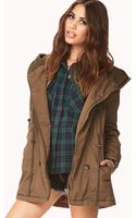 Forever 21 Snow Bunny Hooded Utility Jacket - Lyst