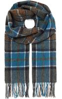 Hugo Boss Check Wool Scarf - Lyst