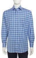 Peter Millar Madras Longsleeve Onepocket Shirt - Lyst