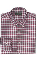 Lauren by Ralph Lauren Classicfit Plaid Broadcloth Buttondown Dress Shirt - Lyst