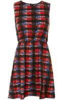 Pussycat Multi Check Print Knitted Dress - Lyst