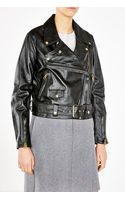 Acne Studios Merci Oversize Leather Biker Jacket - Lyst