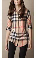 Burberry Stretchcotton Check Shirt - Lyst