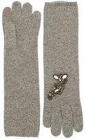 Portolano Rhinestone Accented Gloves - Lyst