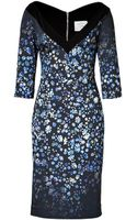 Preen By Thorton Bregazzi Darla Dress in Blue Flower - Lyst
