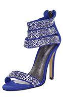 Moda In Pelle Moda in Pelle Sazzy Suede Triple Strap Glitz Sandal - Lyst