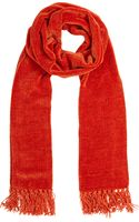 Barneys New York Fringed Scarf - Lyst