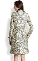 Burberry Brocade Lace Trench Coat - Lyst