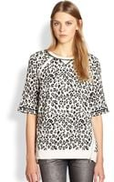 Marc By Marc Jacobs Sasha Graphic Leopard print Sweatshirt white - Lyst