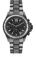 MICHAEL Michael Kors Oversized Everest Chronograph Glitz Watch - Lyst
