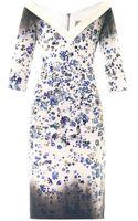 Preen By Thorton Bregazzi Darla Forgetmenotprint Fitted Dress - Lyst