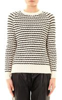 Theory Striped Crewneck Sweater - Lyst