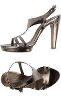 Vic High-Heel Leather Platform Sandals - Lyst