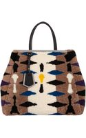 Fendi Shearling Large 2jours Tote - Lyst