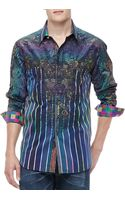 Robert Graham Laserstripe Multiprint Sport Shirt - Lyst