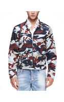 DSquared2 Light Weight Camouflage Jacket Blue - Lyst