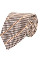 Giorgio Armani Houndstooth Check and Stripe Neck Tie - Lyst
