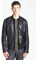 John Varvatos Leather Moto Jacket - Lyst