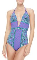 Nanette Lepore Moroccan Medallion Goddess One Piece Swimsuit - Lyst