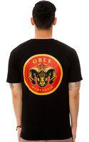 Obey The Ram Head Tee - Lyst