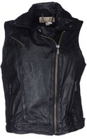 Michael by Michael Kors Leather Outerwear - Lyst