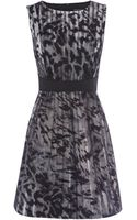 Karen Millen Beautiful Fur Print Prom Dress - Lyst