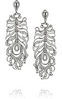 Loree Rodkin Feather 18karat Rhodium White Gold Diamond Earrings - Lyst