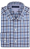 Tommy Hilfiger Slim-Fit Blue Multi-Plaid Dress Shirt - Lyst