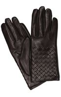 Bottega Veneta Gloves Interweave Leather - Lyst