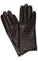 Bottega Veneta Gloves Interweave Leather - Lyst