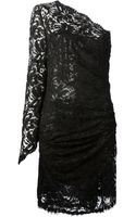 Emilio Pucci Floral Lace One Shoulder Dress - Lyst