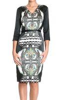 Etro Dresses Long Sleeve V Neck Silk Stretch Print - Lyst