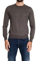 Fay Sweater Merinos Wool Roundneck with Patches - Lyst
