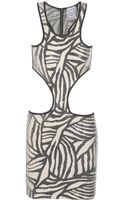 Hervé Léger Cutout Sequined Bandage Dress - Lyst