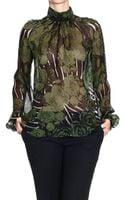 John Richmond Shirt Silk Roses Print - Lyst