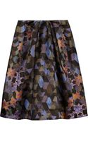 Preen By Thorton Bregazzi Sims Printed Satin Skirt - Lyst