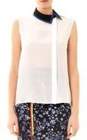 Preen By Thorton Bregazzi Nora Off centre Blouse - Lyst