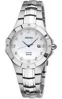 Seiko Womens Coutura Solar Diamond Accent Stainless Steel Bracelet Watch  - Lyst