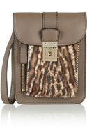 Valentino Leopardprint Calf Hair and Leather Wristlet Clutch - Lyst