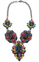 Deepa Gurnani Colorful Stone Necklace - Lyst