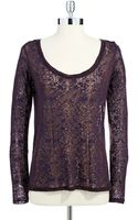 Jessica Simpson Criss Crossed Open Back Burnout Tee - Lyst