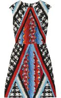 Peter Pilotto Tri Woven Silkblend Dress - Lyst